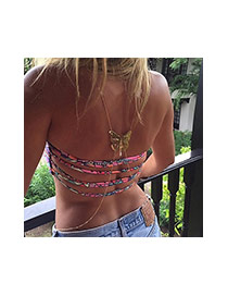 Fashion Gold Color Hollow Out Butterfly Shape Decorated Simple Design