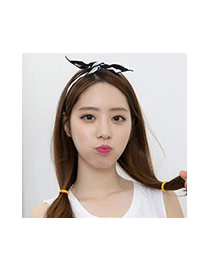 Sweet Black Rabbit Ear Shape Decorated Color Matching Hair