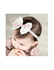 Lovely Light Yellow Bowknot Decorated Simple Lace Hair Hoop