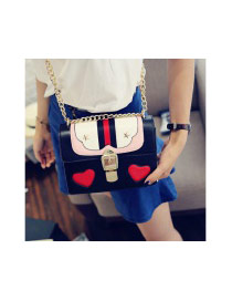 Cute Pink Heart Shape Pattern Decorated Square Shoulder Bag