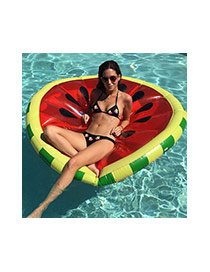 Lovely Red Watermelon Pattern Decorated Tound Shape Swim Ring