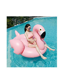 Lovely Pink Swan Shape Design Color Matching Swim Ring