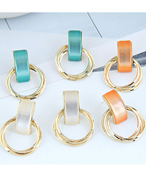 Fashion Green Round Alloy Multilayer Earrings