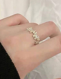 Fashion Gold Color Zircon Butterfly Open Ring