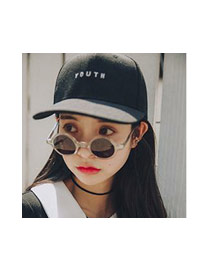 Fashion White Youth Letter Decorated Simple Pure Color Baseball Hat