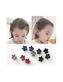 Lovely Plum Red Pure Color Decorated Folower Shape Design Hair Claw