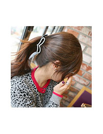 Fashion  Diamond Decorated Hollow Out Heart Shape Hair Claw