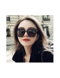 Fashion Black Pure Color Decorated Hollow Out Design Sunglasses