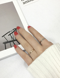 Elegant Silver Color Pure Color Decorated Simple Opening Ring