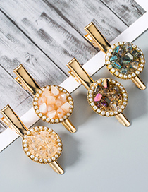 Fashion Pink Diamond-studded Hairpin