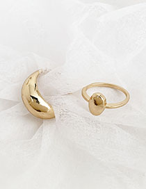 Fashion Gold Alloy Oval Ring