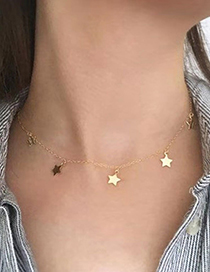 Fashion Gold Pentagram Gold-plated Necklace