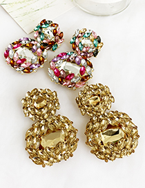 Fashion From Alloy Stud Earrings With Diamonds