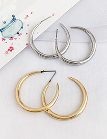Fashion Golden Alloy Crescent Earrings