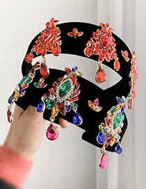 Fashion Color Alloy Fabric Diamond Headband