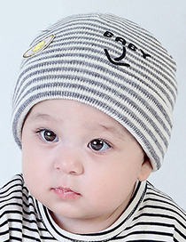 Lovely Red Stripe Pattern Decorated Child Thin Cap(0-2 Yesrs Old )