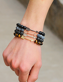 Fashion Brown Arrow Shape Decorated Beads Bracelet