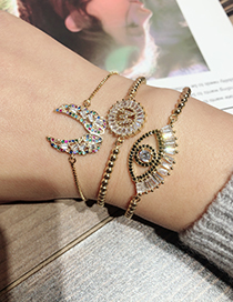 Fashion Gold Color Eye Shape Decorated Bracelet