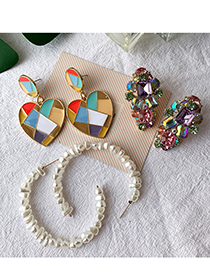 Fashion Color Alloy Love Color Colored Earrings