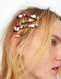 Fashion Red Natural Stone Blonde Hair Hoop