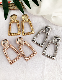 Fashion Gold Alloy Diamond Earrings