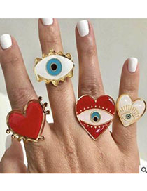 Fashion Red Alloy Love Ring