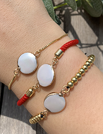 Fashion Gold Copper Shell Round Bracelet