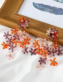 Fashion Color Gypsophila Alloy Stud Earrings