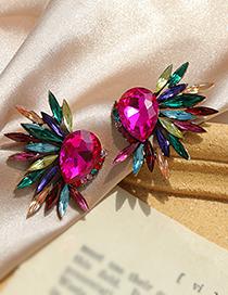Fashion Color Alloy Rhinestone Drop Earrings