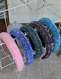 Fashion Color Sponge Resin Full Beads Headband