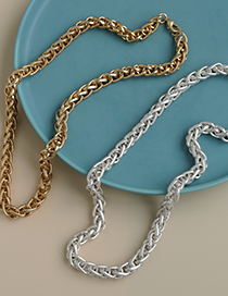 Fashion Gold Color Color Alloy Chain Necklace