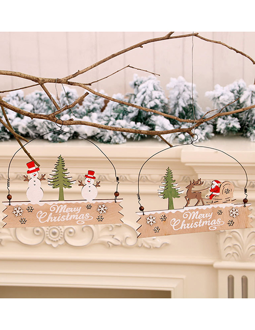 Fashion Snowman Santa Snowman Wooden Letter Door Hanging