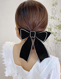 Fashion Black Diamond Chain Butterfly Combined With Blonde Clip