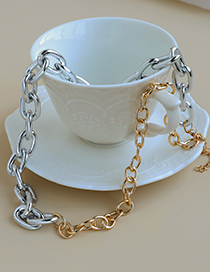 Fashion Splicing Alloy Chain Stitching Necklace