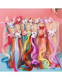 Fashion Butterfly Pink Butterfly Animal Contrast Color Childrens Wig Braids
