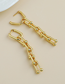 Fashion Gold Color Trumpet Copper Chain Small Earrings