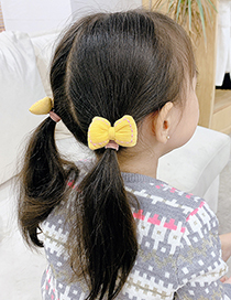 Fashion Pink Bowknot Fabric Childrens Hair Rope
