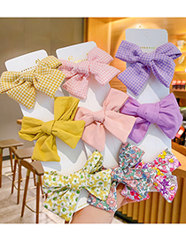 Fashion Red Fabric Bow Hairpin [3-piece Set] Floral Bow Kids Hairpin Set