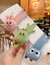 Fashion Pink Bunny Fabric Alloy Animal Hairpin For Children