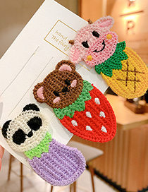 Fashion Fox Animal Knitted Color Alloy Childrens Hairpin