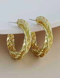 Fashion Gold Color Alloy Geometry Twisted Ear Studs
