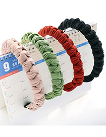 Fashion Black Multiple Knotted Headband Striped Pleated Multi-knot Fabric Hair Band