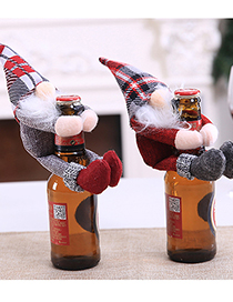 Fashion Red Old Man Christmas Items Santa Claus Holding Red Wine Set