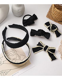 Fashion White (hair Rope) Bowknot Knotted Handmade Beaded Hair Rope Hairpin Hair Band