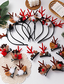 Fashion Pine Cone (hairpin) Christmas Elk Hair Ball Mushroom Hairpin Headband