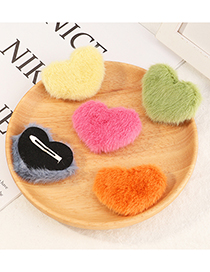 Fashion Pink Love Plush Alloy Hairpin