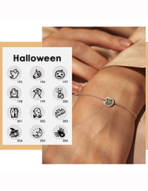 Fashion Gold Color Ghost Halloween Stainless Steel Ghost Ghost Geometric Bracelet