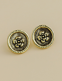 Fashion Gold Color Alloy Flower Earrings