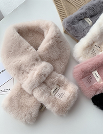 Fashion Horn Rice Pure Color Crossed Rex Rabbit Fur Scarf