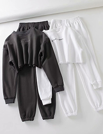 Fashion Gray Short Sports Embroidered Fleece Trousers